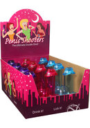 Penis Shooters Double Shot Glasses Assorted Colors 12 Each...