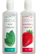 Oralove Delicious Duo Lickable Strawberry And Mint...