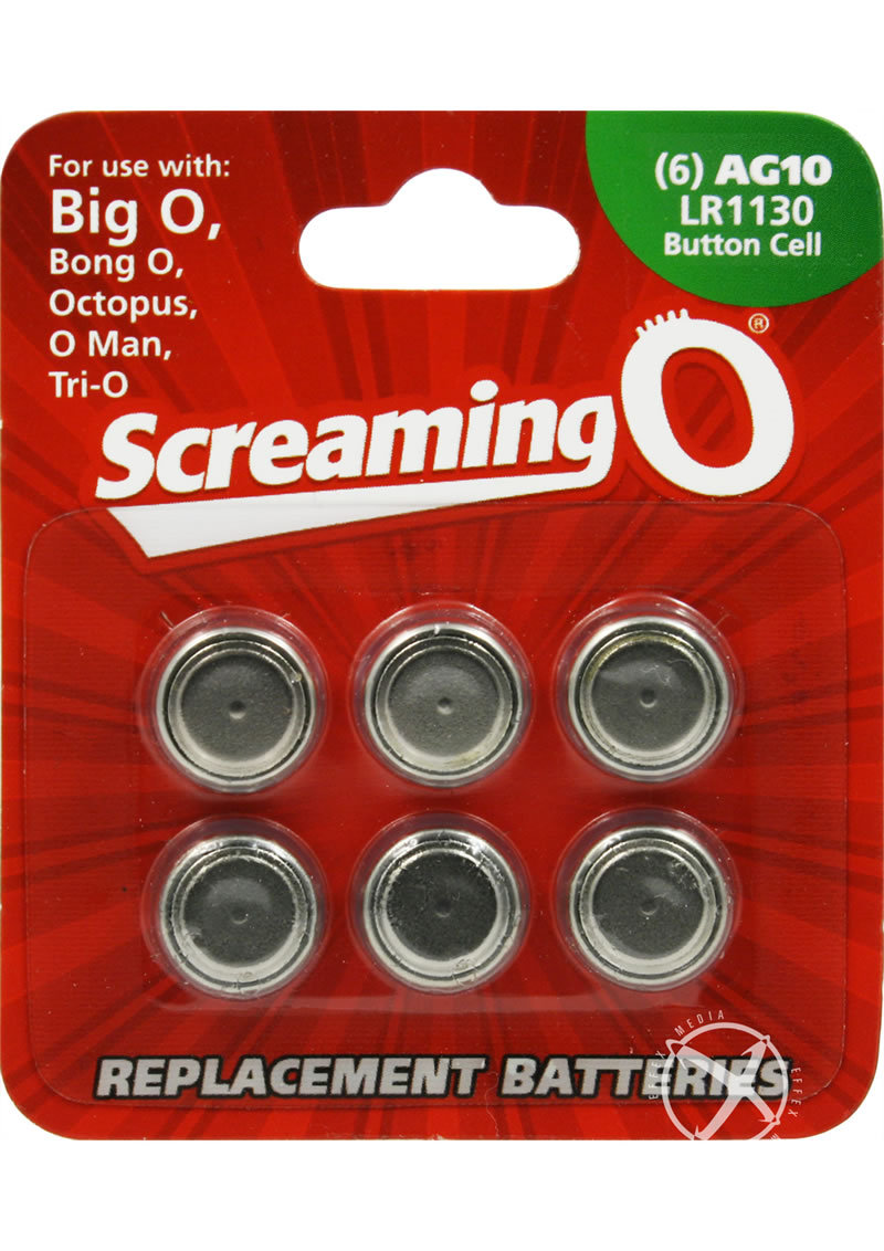 Screaming O Batteries Ag10 Lr1130 Button Cell 6 Pack